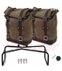 UNIT GARAGE Two Waxed suede Side Panniers + Double Subframe NineT