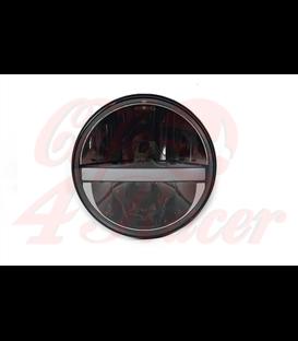 """7"""" / 17,8cm Harley Hlavné LED svetlo  vložka čierna  DRL"""