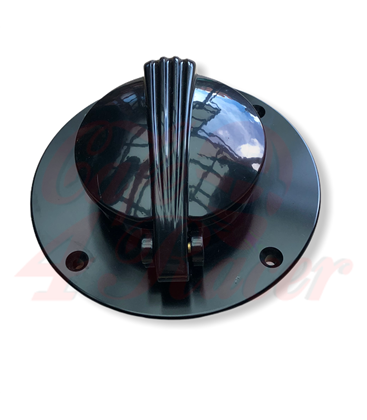 BMW K75/100/1100 Fuel Tank Gas Black with lock  MONZA  cap in Black/Contrast Polished