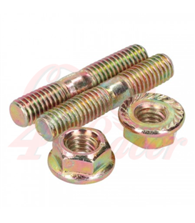 Štifty výfuku   M6 x 32mm  2 x M6 bolts and 2 x M6 nuts