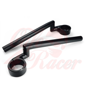 Rebelmoto Clip-Ons  HIGH Rise clip-ons 41.3mm BMW K series BLACK