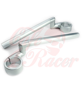 Rebelmoto Clip-Ons  HIGH Rise clip-ons SILVER