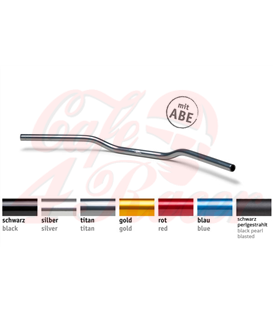 LSL Handlebar Superbike Flat AN1, Aluminium Black