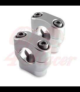 Konzola držiak riadítok  28,6 mm Výška 32mm stireborné