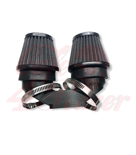 BMW K-Series Air Intake adapter Black PLA for 2 filters 54  mm outlet + 2x 54mm air filters BLACK