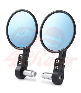 Billet Aluminum CNC   Handle Bar End Side Mirrors black