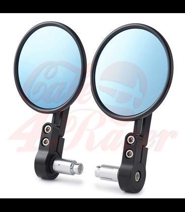 Billet Aluminum CNC   Handle Bar End Side Mirrors black