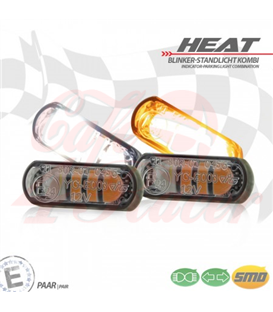 "LED built-in turn signal position light set ""Heat"""