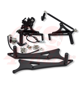 Rearsets for the K75/100/1100/K1 black/silver DUAL