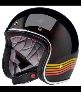 Biltwell Bonanza helma otvorená Gloss Black Spectrum