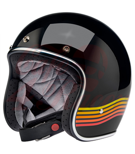 Biltwell Bonanza Helmet Open Face  Gloss Black Spectrum