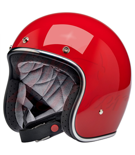 Biltwell Bonanza Helmet Open Face  Gloss Blood Red