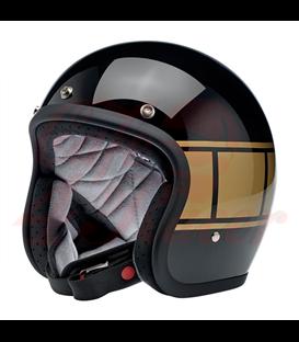 Biltwell Bonanza Helmet Open Face Gloss Black Holeshot