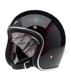 Biltwell Bonanza Helmet Open Face Gloss Black