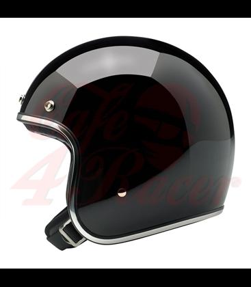 Biltwell Bonanza Helmet Open Face Gloss Black
