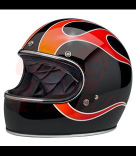 Biltwell Gringo Helmet Full Face Dice flames