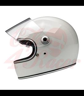 Biltwell Gringo S Helmet Full Face Gloss White ECE