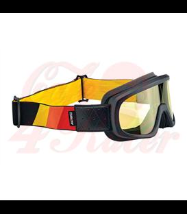 Biltwell Overland 2.0 Tri-Stripe goggle black R/Y/O
