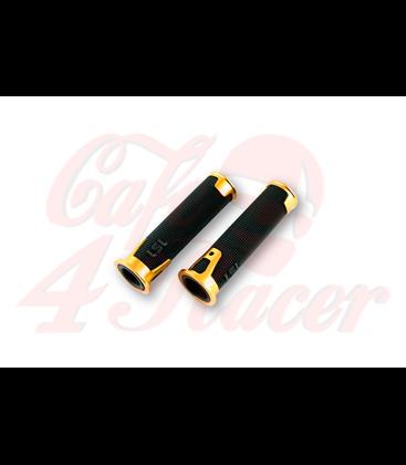 LSL Handlebar grip rubber ERGONIA, 7/8 inch gold