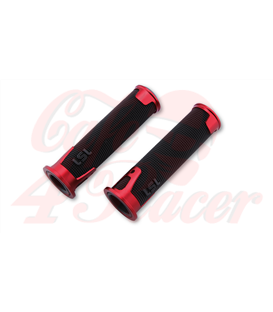 LSL Handlebar grip rubber ERGONIA, 7/8 inch red