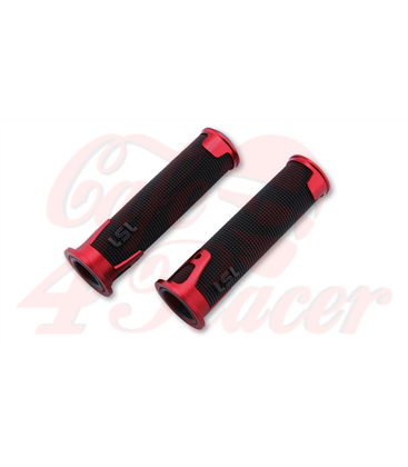 LSL Handlebar grip rubber ERGONIA, 7/8 inch red
