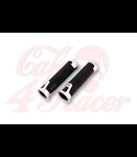LSL Handlebar grip rubber ERGONIA, 7/8 inch silver