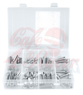 Assortment of metric countersunk screws and nuts 75pcs