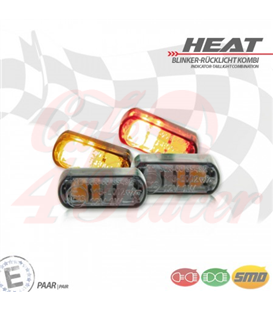 "LED built-in turn signal rear light set ""Heat"""