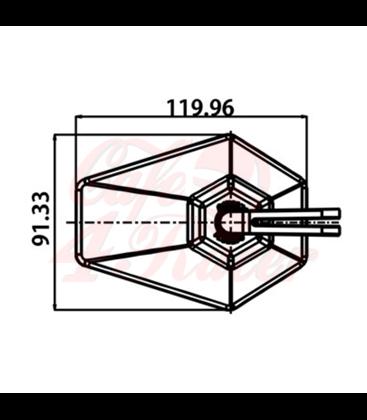 DAYTONA Handlebar  mirror D-4 black HEXAGON