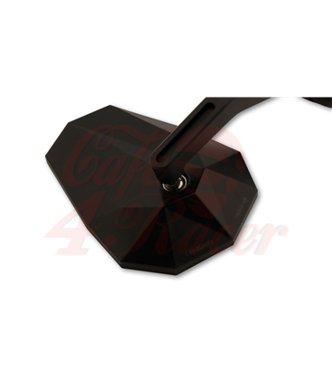 HIGHSIDER STEALTH-X7 handlebar end mirror with LED turn signals