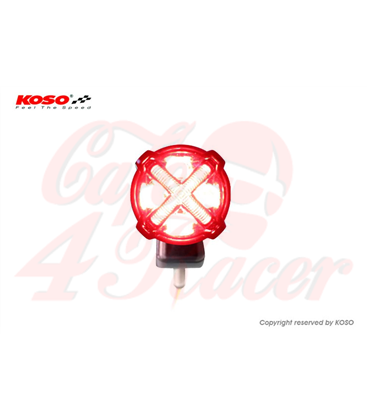LED taillight with brake light function, GT-02S clear lens e-mark approval with bracket
