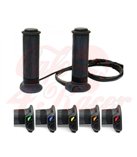 """HG 13 Heated Grip 7/8"""" + 1"""" L130mm (HG-13 with integrated switch) black"""