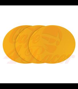 Oválna tabuľa - plast 3ks žlté