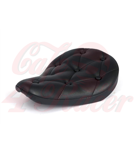Fitzz, custom solo seat. Black/rivets. Small. 4cm thick