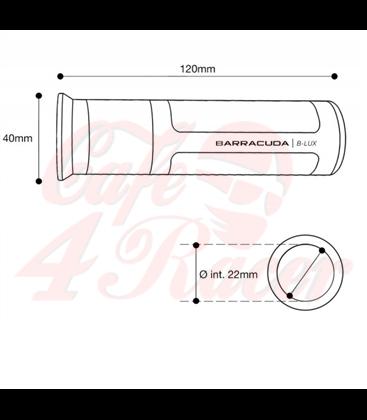 BARRACUDA CLASSIC BROWN / SILVER HANDLES (pair)