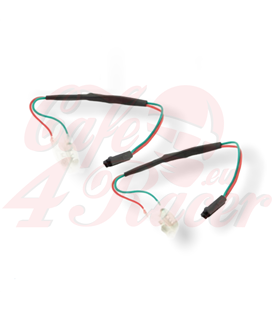 Adapter cables for indicators include resistors HONDA 04- with resistor 27 Ohm / 3W  Japan-2 round plug female