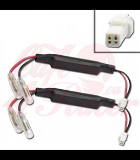 Adapter cables for indicators include resistors DUCATI / KTM / MV AGUSTA / SUZUKI  TRIUMPH  Japan-2 round plug female