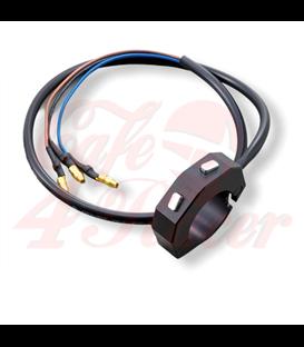 DAYTONA Externý držiak tlačidiel CNC s 2 tlačidlami, čierny, pre riadidlá 7/8 a 1 palca
