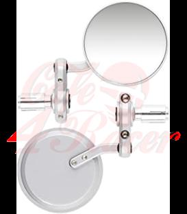 Okrúhle spätné zrkadá CR1 stireborné
