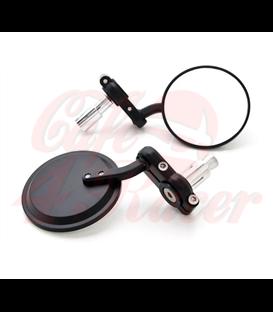 Round Handle Bar End Side Mirrors CR1  black