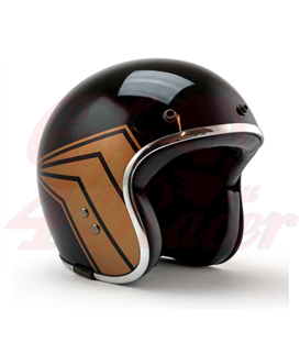 Roeg JETT helmet X 13 1/2 Skull bucket helmet gloss black