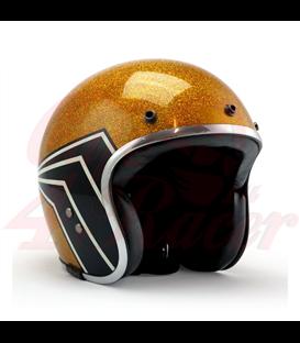 Roeg JETT helmet X 13 1/2  gold metal flake