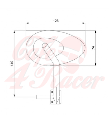 BARRACUDA SKIN-X / BAR END bar end mirror (pair) black