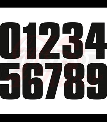 Čísla set 80s-Style, čierna matná , 112mm výška, 1 ks