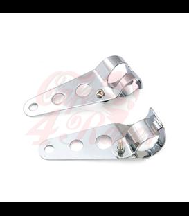 Universal headlight brackets 35-43 mm chrome