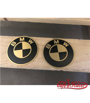 BMW K 75/100/1100/K1 TANK logo VINTAGE NR5 mosadz 70mm  2ks
