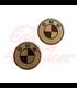 BMW K 75/100/1100/K1 TANK logo 70mm VINTAGE NR4 BRASS  2pcs