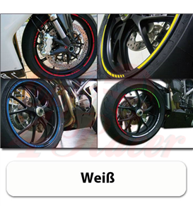 Strips for wheels  Rim size: 16-19 inches WHITE