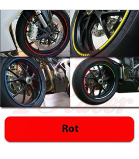 Strips for wheels   GP STYLE Rim size: 16-19 inches RED