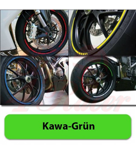 Strips for wheels   GP STYLE Rim size: 16-19 inches KAWASAKI GREEN